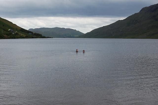 Swimming in Loch Na Fooey