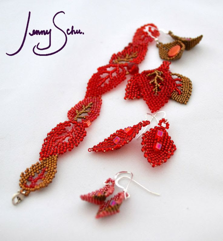 Jenny Schu's Beads, Yarn and Other Sundries: Red Jewelry for Valentine's at Lansing Art Gallery
