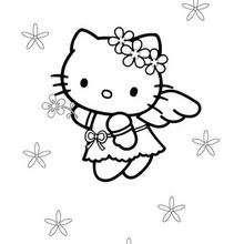 Coloriages Coloriage De Hello Kitty En Danseuse Frhellokidscom