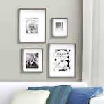 Lifetime Brands Inc Mikasa 4-Piece Picture Frame Set, Gray
