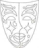 Maschera Veneziana Da Colorare Tuttodisegnicom