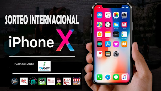 ¡Sorteo internacional de un iPhone X de 64GB!