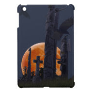 Mystical Raven, Moon & Goth Graveyard iPad Mini Case