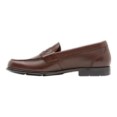 Men's Rockport Classic Penny Loafer Coach Brown Leather ...