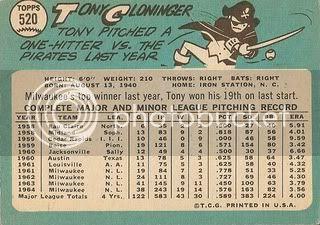 #520 Tony Cloninger