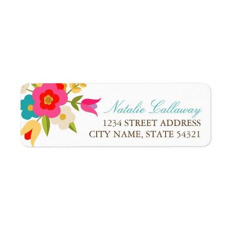 Country Flowers Wedding Return Address Labels
