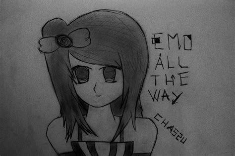 anime drawings emo