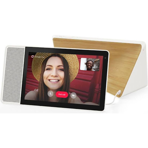 Lenovo Smart Display with Google Assistant - White/Bamboo - 10""