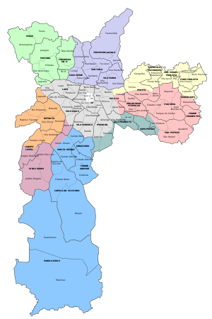 subdivision of the city of Sao Paulo