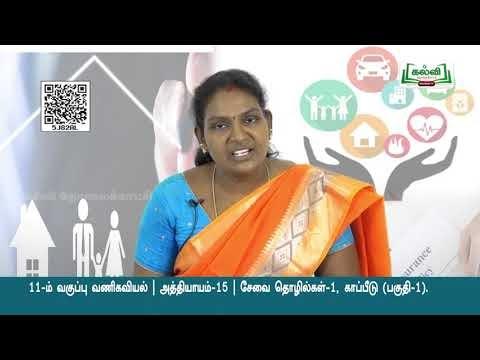 11th Commerce சேவை தொழில்கள் காப்பீடு அத்தியாயம் 3 பகுதி 1 Kalvi TV