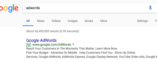 Google AdWords Rolling Out New Green Outlined Ad Label?