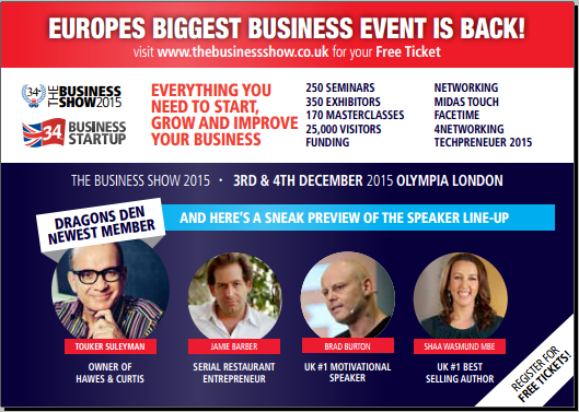The Great British Business Show - Olympia London December 3rd & 4th