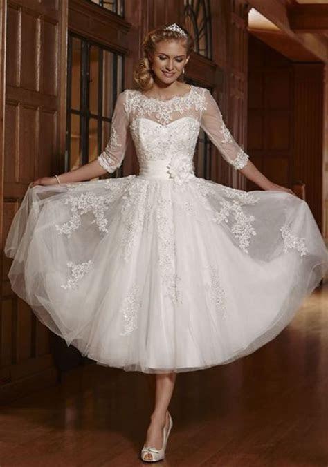 New White/Ivory Short Lace Wedding Dress Bridal Gowns Size