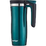 Contigo Autoseal Vacuum Insulated Stainless Steel Handled Travel Mug, Evergreen, 16 oz