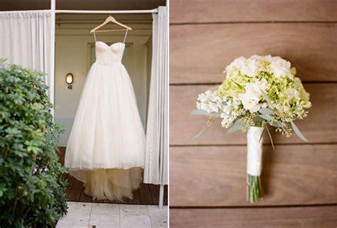 green white wedding bouquet modern vera wang bow wedding