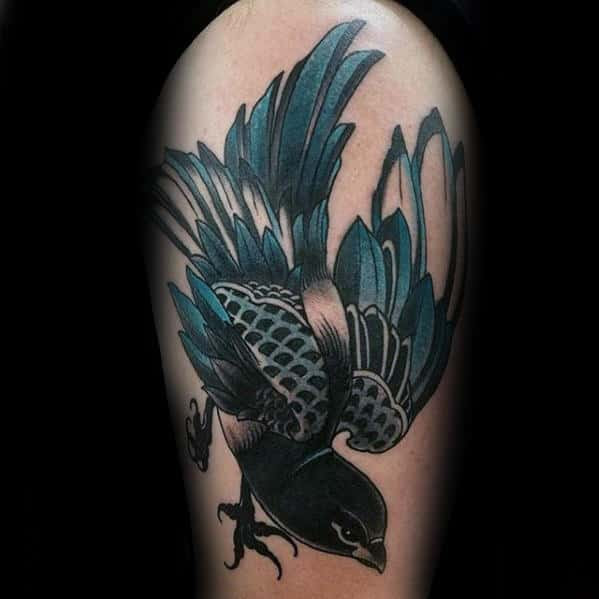 40 Traditional Bird Tattoo Designs For Men Old School Ideas