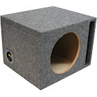 "Car Audio Single 12"" Vented Subwoofer Stereo Sub Box Ported Enclosure 5/8"" MDF H112V"