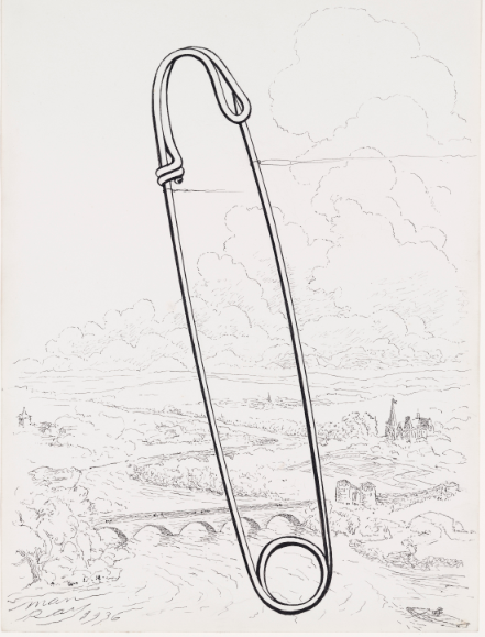 Safety pin (1936) Man Ray