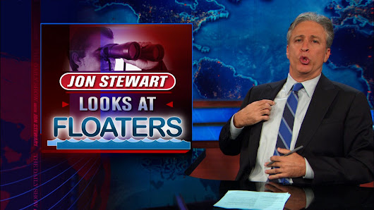Jon Stewart Looks at Floaters