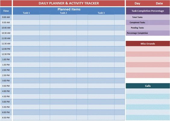 Excel planner templates gives an overview of the tasks you decides ...