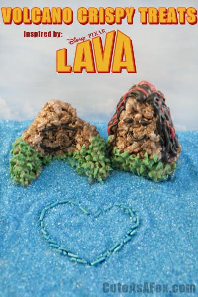 Volcano Crispy Treats - Inspired by Lava