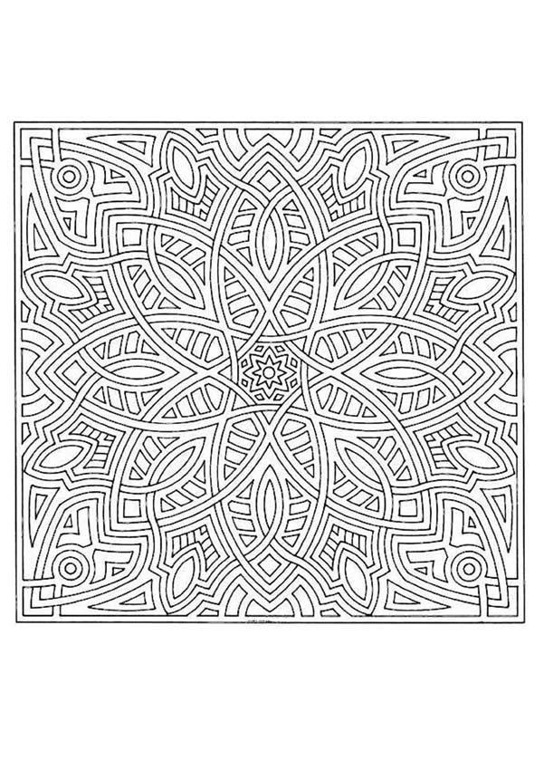 Dibujos Para Colorear Mandala ángulos Y Líneas Eshellokidscom