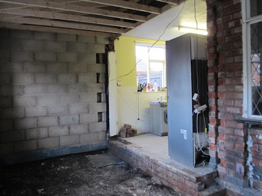 Construction Update: The Kitchen Wall Has Gone!