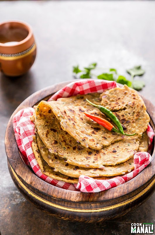 Achari Onion Paratha - Cook With Manali