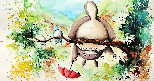 Studio Ghibli Inspired Watercolor Paintings By Louise Terrier (14 Pics)