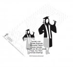 Female Graduate Shadow Yard Art Woodworking Pattern - 2 sizes included - fee plans from WoodworkersWorkshop® Online Store - female,women,girls,graduates,graduating,graduation,yard art,painting wood crafts,jiglsawing patterns,drawings,plywood,plywoodworking plans,woodworkers projects,workshop blueprints
