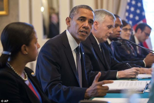 U.S. President Barack Obama speaks during his bilateral meeting with China's President Xi Jinping