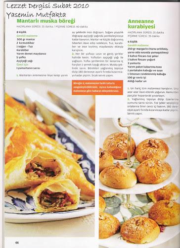 Lezzet Şubat 2010 - Mantarlı Muska Böreği ve Anneanne Kurabiyesi