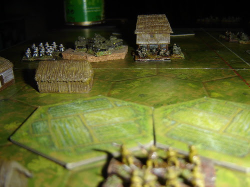 Japanese  prepare to advance across paddyfields - Battle of Pacific RR