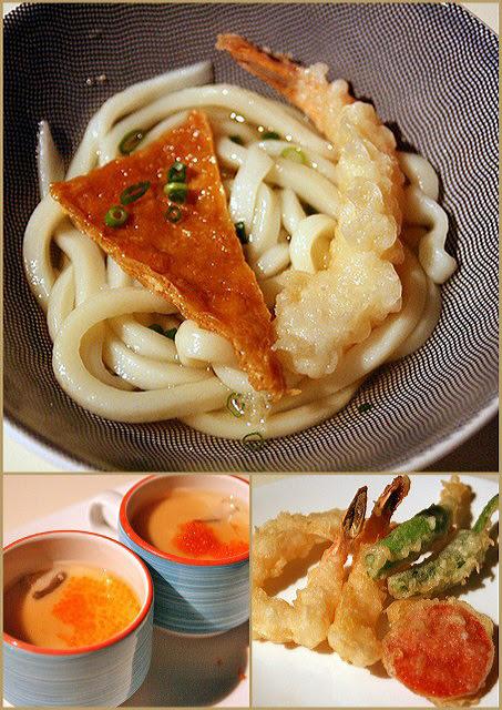 Udon, chawanmushi, and tempura