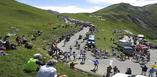 How does a Tour de France favourite win on the scorching mountain slopes?
