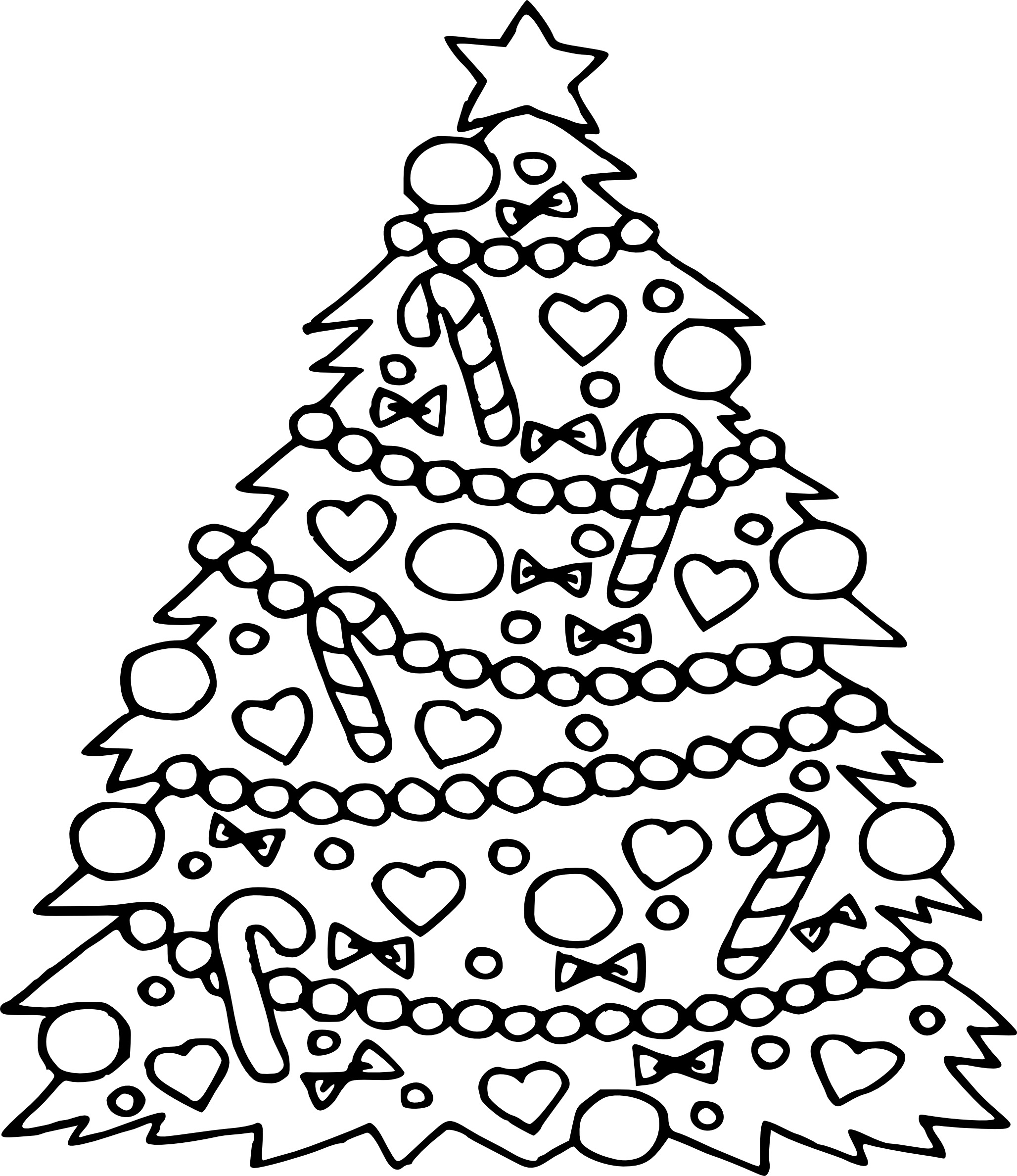 Christmas Tree Coloring Pages For Kids at GetColorings.com ...