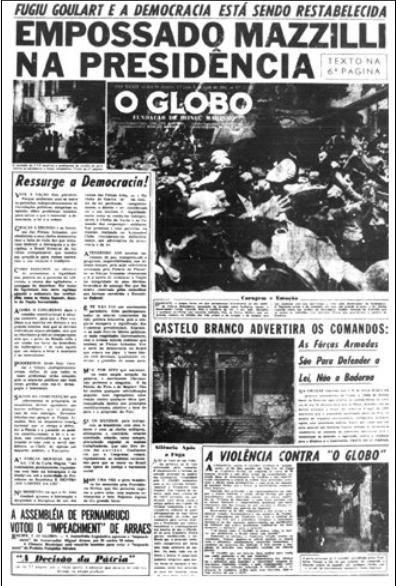 editorial globo golpe militar 1964