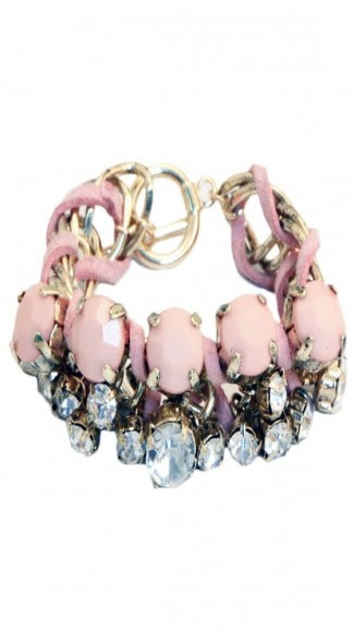 by Adia Kibur //  Crystal & Intertwined Suede Bracelet