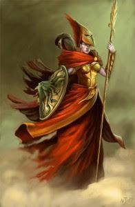 Athena (Minerva) Greek Goddess - Art Picture by TaekwondoNJ