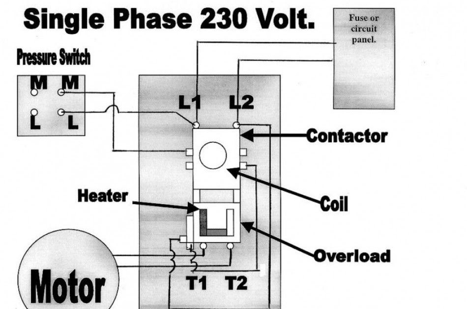 240v Single Phase Compressor Wiring Diagram