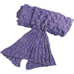 Altatac Mermaid Tail Knit Crochet Warm & Soft Handmade Sleeping Sofa Blankets