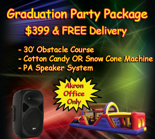 Grad Party and Free Inflatable Game Promo ... OMG!