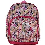 "Barbie Furry Friends 16"" Backpack w/ Side Pockets Reflective Strips Pink"