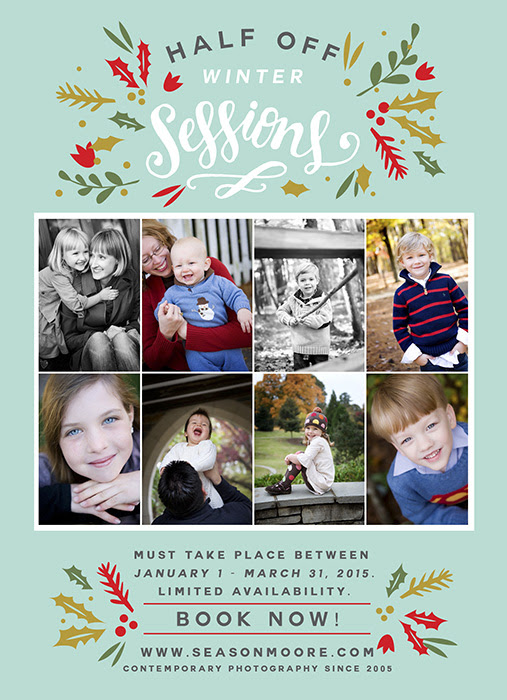 2015 Winter Special! Raleigh – Durham Photo Sessions Half Off