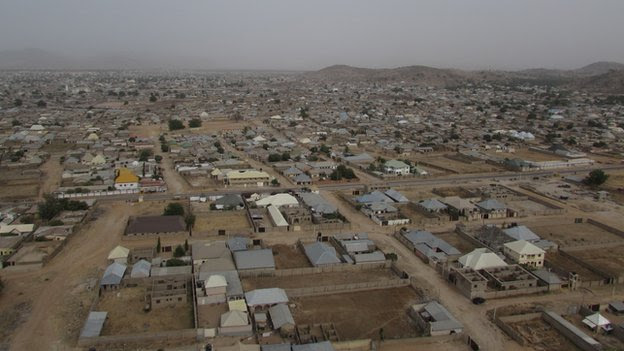 Mubi town from the air