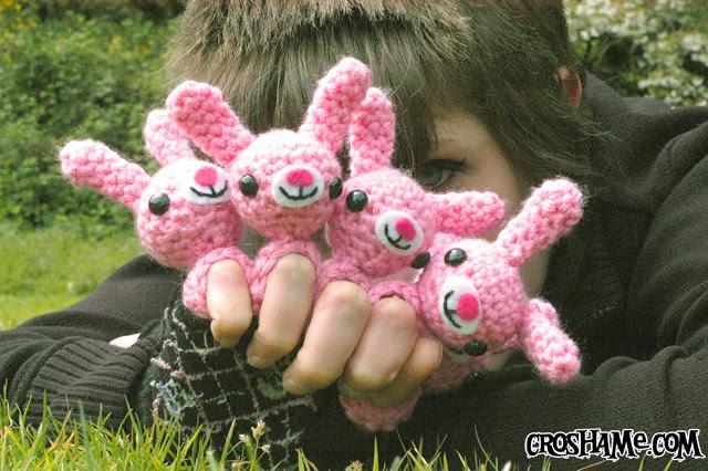 Amigurumi Bunny Pencil Holder : Crochet
