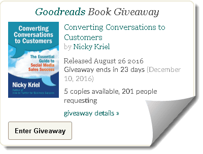 Win a signed copy of new book on Goodreads Giveaway