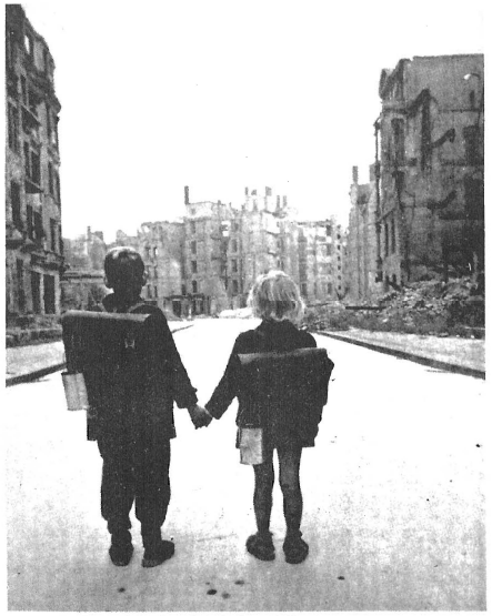 U.S. government policy toward Germany immediately after World War II was determined by hate-crazed Jews, who wanted to crucify future generations of Germans. These two German children — and millions of others — were saved from death by starvation and allowed to begin rebuilding their country only after General Patton's warnings had alerted Gentile leaders in America to the Soviet danger which would be raised by the annihilation of the German people.