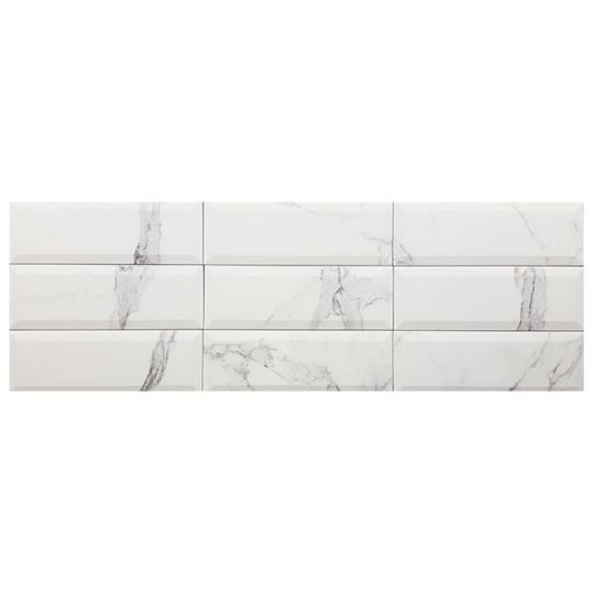 Tesoro Bisel Calacatta Subway Tile 4 X 12