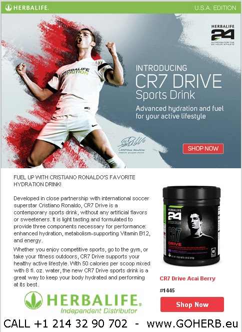 Herbalife introducing CR7 DRIVE with Cristiano